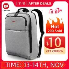 Tigernu Big rabat Casual Men 15.6 cala z zabezpieczeniem przeciw kradzieży plecak na laptopa torba moda plecak z USB męski plecak szkolny dla mężczyzn