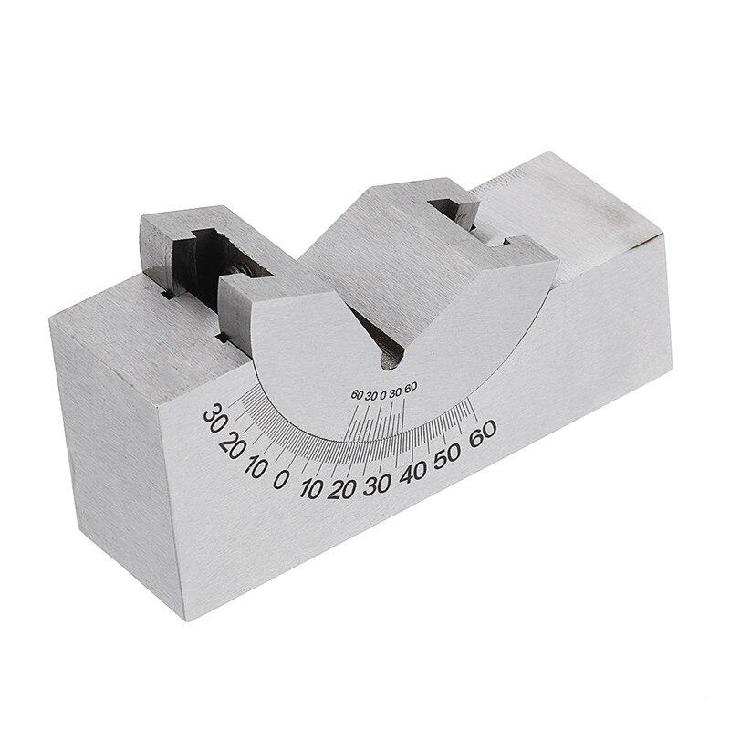 Tools : DANIU 1Pcs Adjustable Angle Gauge V-block Angle Grinder KP25 0-60 Degree Precision-Angle Plate Block for Measuring Tools