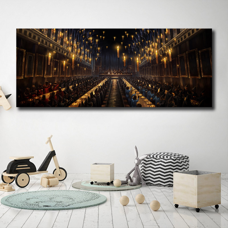 Harries Poster The Great Hall Potteres Canvas Painting  Prints Modular Wall Art HD Picture For Reading Room Home Decor