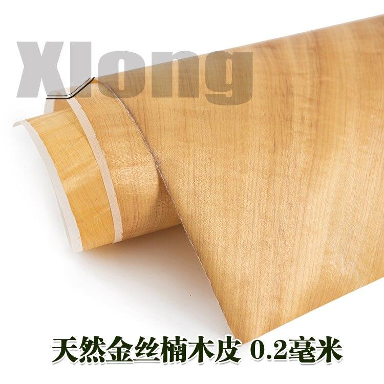 L:1.1Meters Width:500mm Thickness:0.2mm Natural Golden Nanmu Skin Solid Wood Golden Nanmu Corrugated Golden Nanmu Skin