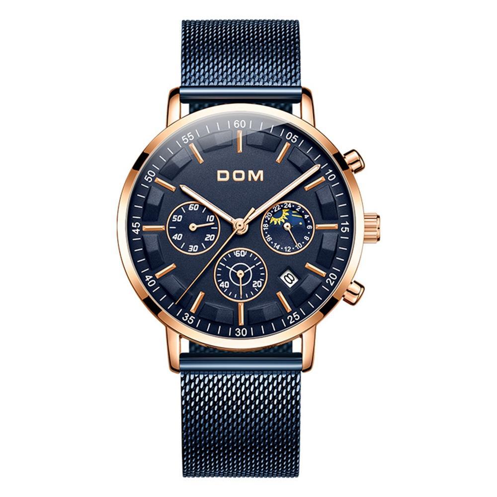 Relojes 2018 시계 남성 dom 패션 스포츠 쿼츠 시계 남성 시계 브랜드 럭셔리 비즈니스 방수 시계 relogio masculino