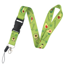 K491 Avocado Fruit Lanyards For keychain ID Card Pass Mobile Phone USB Badge Holder Hang Rope Lariat Lanyard 1PCS