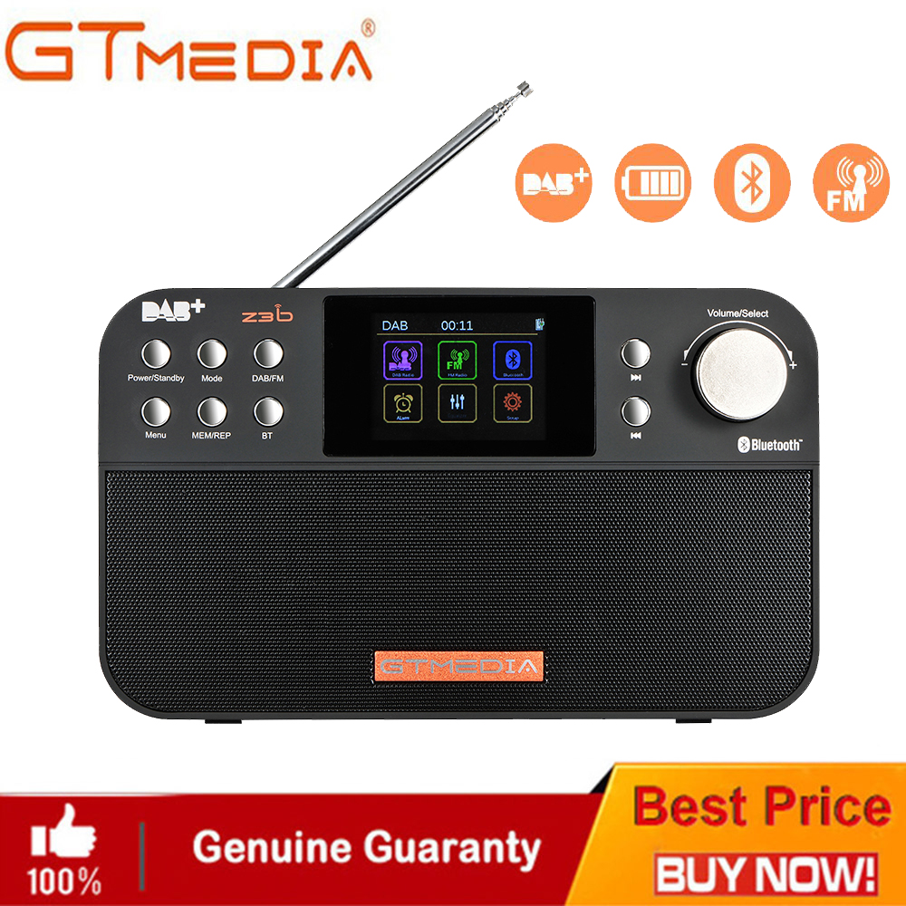 GT Media Portable FM DAB Radio Z3B Z3 FM RDS Clock/Alarm/Sleep Timer Portable Radio FullBand World Receiver FM 87.5-108MHz