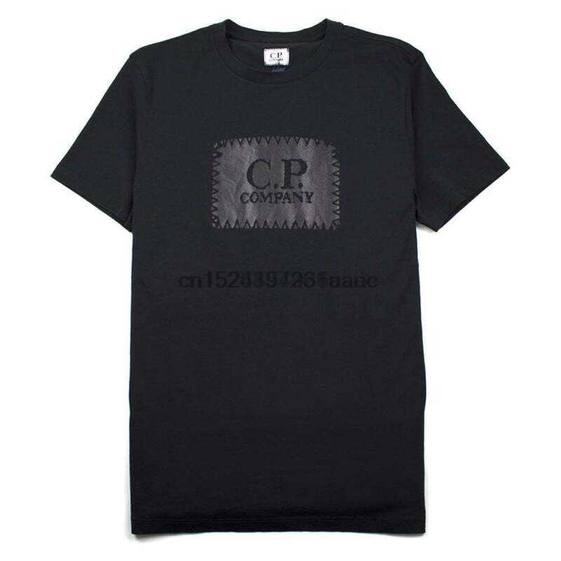 Cp Company Patch Logo Tee Black