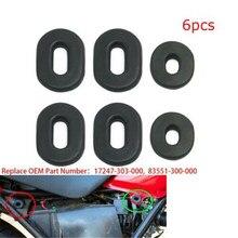 Набор прокладок для обтекателя мотоцикла, набор прокладок для Honda CB100 CL100 SL100 XL100 CB125 CT125 XL125 CB200 CB500 CB550 CB750, 6 шт.