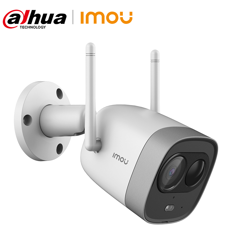 Купить с кэшбэком Dahua Imou New Bullet WiFi Camera Dual Antenna Waterproof Built-in MIC Speaker Active Deterrence PIR Detection Alarm IP Camera
