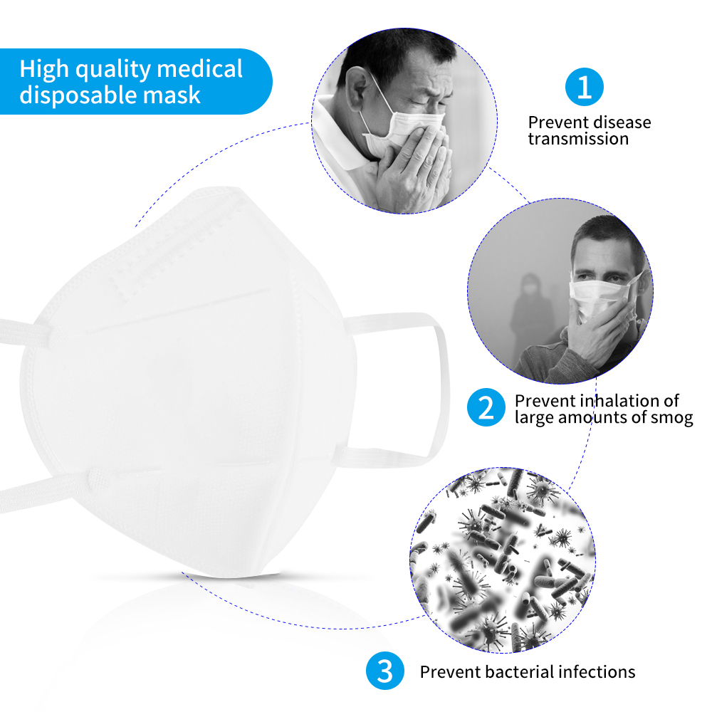 10/20/50 PCS KN95 Mask Accept Drop Shipping US In Stock 95% Filter Anti Fog Dusk Mask Non-woven Elastic Mouth Mask