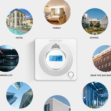 CO Gas Sensor Alarm Accessory LCD Digital Screen Carbon Monoxide Alarm Detector for Home