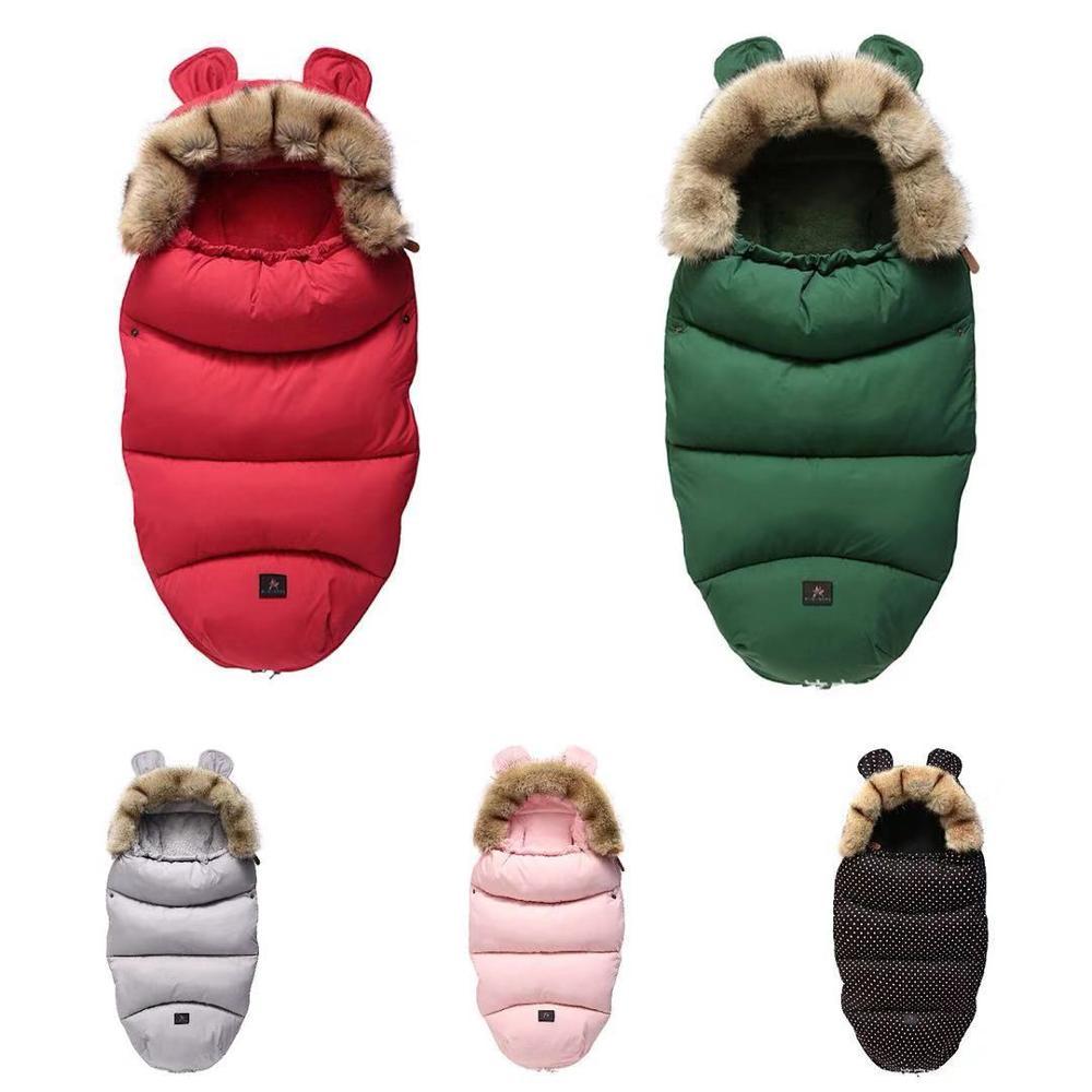 Спальный мешок для детской коляски, теплый спальный мешок, халат, конверт для детской коляски, чехол для детской ноги на весну и зиму