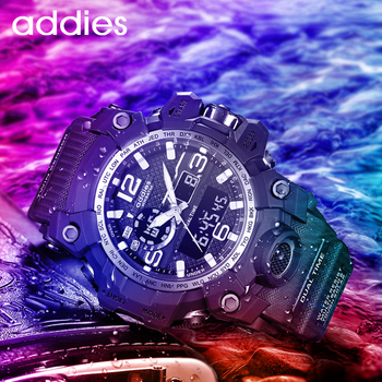 addies Sports Watches for Men Waterproof Military Sports Wristwatch Digital Stopwatch for Men Military Watches Male Watch panars sports watch men military waterproof g digital wrist watches s shock male watch for men led electronic wristwatch running