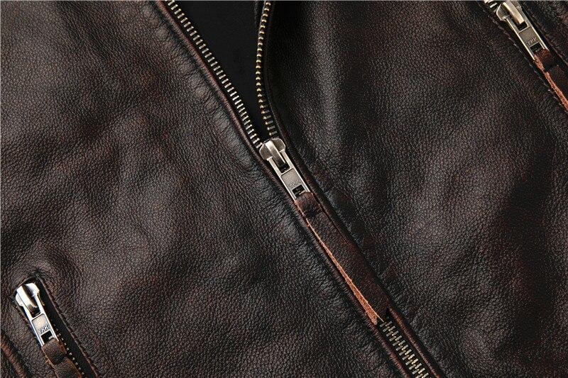 Hdfbb8b6bac5d4e5e93ba321ddc4ec7c6A Classic motor style,vintage genuine leather Jacket,fashion men brown Leather coat,street biker coat,sales