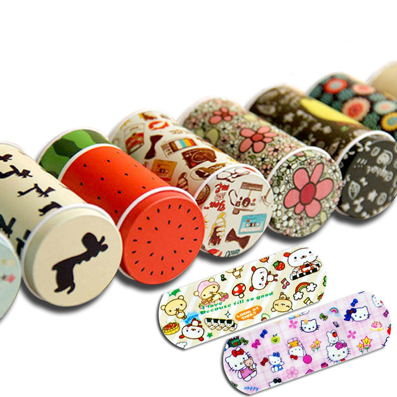 20 Pcs Cartoon Bandages Adhesive Bandages Hemostasis Band Aid Sterile Stickers Wound Plaster First Aid For Kids Children