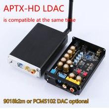 Sem perdas de alta fidelidade csr8675 aptx hd bluetooth 5.0 adaptador receptor sem fio es9018k2m pcm5102a i2s dac decodificação 24bit tws 3.5m rca