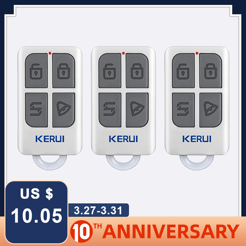 KERUI 3pcs Wireless Remote Control For W1 W2 W17 W18 W19 G18 G19 G183 G193 8218G 8219G Home Security Alarm System Controller