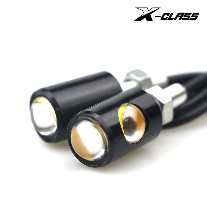 X-CLASS Universal Motorcycle LED Mini Turn Signal Eagle Eye Shape Turn Indicators For Kawasaki Honda Ducati Aprilia KTM BMW