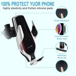 Image 3 - Soporte de teléfono R3 para coche, Sensor inteligente, soporte de carga inalámbrica, 10W, Qi, cargador inalámbrico rápido Simple para Iphone 8 Plus X, Huawei