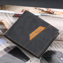 Men #8217 s Classic Leather Wallet Brand Luxury Short Slim Retro Men #8217 s Wallet Wallet Business Credit Card Case cheap YOUSE 0 15 Polyester 9 5cm Coin Pocket Passcard Pocket Note Compartment Photo Holder Card Holder 12cm No Zipper Standard Wallets