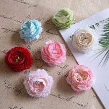 3 pcs High-quality artificial flowers, peony flowers, 8cm diameter, bright flower heads, handmade DIY home wedding decoration