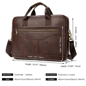 Image 2 - WESTAL Bolsa de mensajero de cuero genuino para hombre, bolso de oficina para ordenador portátil, de diseño de negocios, de cuero
