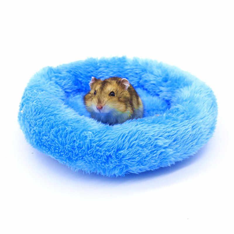 إمدادات الحيوانات الأليفة الشتاء لينة الصوف غينيا خنزير سرير صغير الحيوان قفص حصيرة صغيرة الهامستر الفئران سرير الهامستر منزل أريكة القنفذ