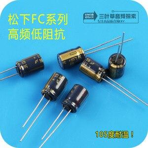 Image 2 - 20pcs חדש Matsushita 63V56UF FC 8X11.5MM 56UF 63V קבלים 56 uF/ 63V 105 מעלות fc 63V 56UF