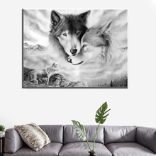 Modern Animal Art Wolf Canvas Painting Decor Wall Pictures for Living Room Wall Art Posters and Prints Home Wall Cuadros modern nordic elegant ballet dancer canvas painting wall art posters and prints for living room wall pictures home cuadros decor