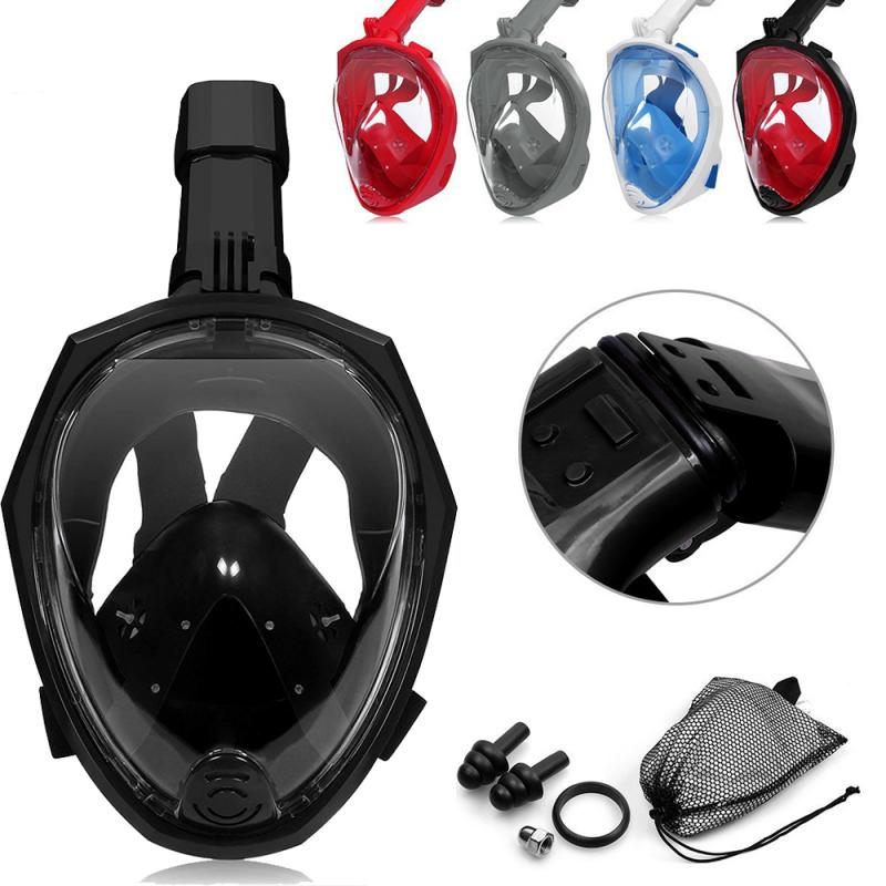 Diving Mask Underwater Scuba Anti Fog Full Face Diving Mask Snorkeling Set With Anti-skid Ring Snorkel 2019 New Arrival #ED
