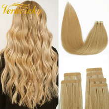 Hair-Samples Human-Hair-Extensions Skin-Weft Salon-Hair Tape-In Remy Seamless for Blonde-Color