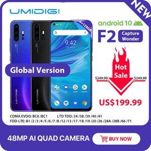 """Image 1 - UMIDIGI F2 telefon Android 10 6GB 128GB küresel sürüm NFC 6.53 """"FHD + 48MP AI dörtlü kamera 32MP Selfie Helio P70 cep telefonu 5150mAh"""