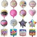 10 шт. 18 дюймов Круглая Форма Feliz Cumpleanos испанский день рождения вечеринка Декор Mylar фольга гелиевые шары Globos Baloes воздушные шары