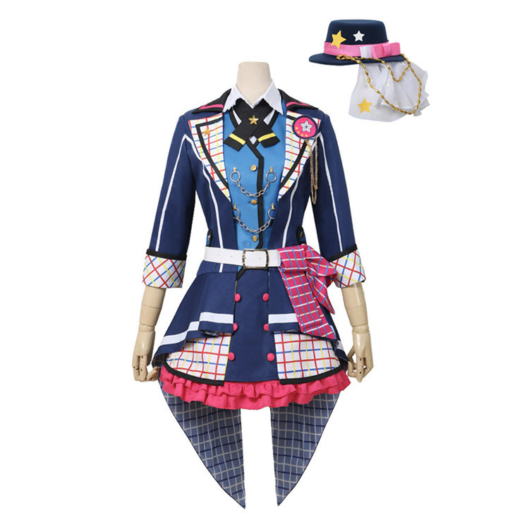 Japanese Anime BanG Dream! 7th LIVE Poppin'Party Cosplay Costume Ushigome Rimi Halloween Custom Made Free Shipping B