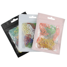 30pcs Creative Special-shaped Paper Clips Mixed Color Random Shape Paper Clips Cute Stationery