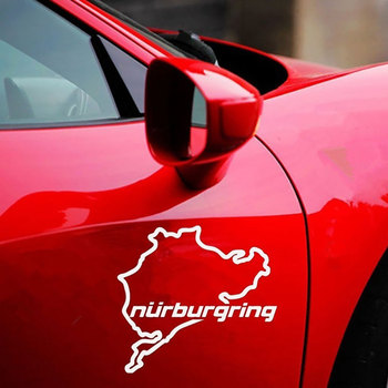 Nurburgring Map Funny Car Truck Vehicle Reflective Decals Sticker Decoration 2019 New Wholesale Funny Sign Car Accessories 2