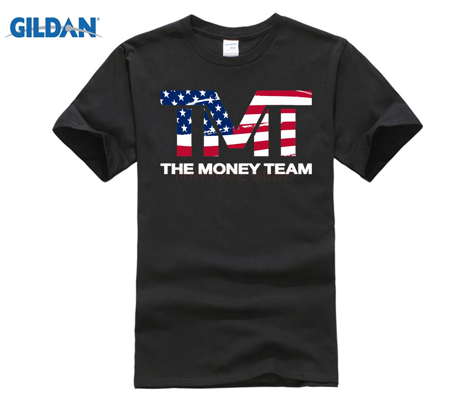 The Money Team  Short T-Shirt For Mens 2018 Mens Black Shirt Plus Size 3xl Mens Cream Tee Shirt Summer Casual Short Sleeve Top