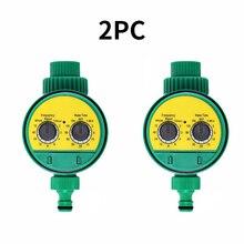 2 шт автоматический таймер полива сада шаровой клапан контроллер системы с электронным ЖК-дисплеем домашний сад Орошение контроллер