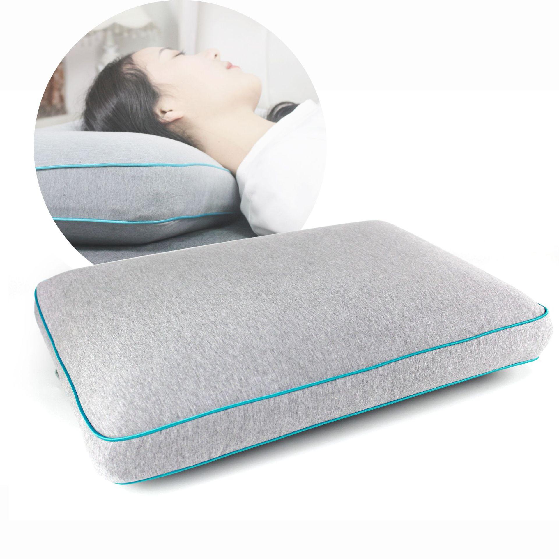 60x40x12cm conception ergonomique de haute qualité tissu Gel oreiller en mousse à mémoire de forme réduire la Protection de la douleur l'oreiller de literie de la colonne vertébrale cervicale