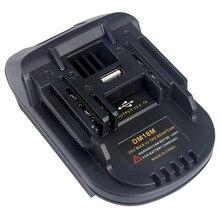 DM18M adaptateur de convertisseur de batterie chargeur USB pour Milwakee 18V M18 pour Dewalt 20V pour batterie Makita 18V bl1830 Li ion