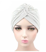 New fashion ladies headband knitted striped breathable headband twist hair band Muslim headband hat headband hijab hat turban