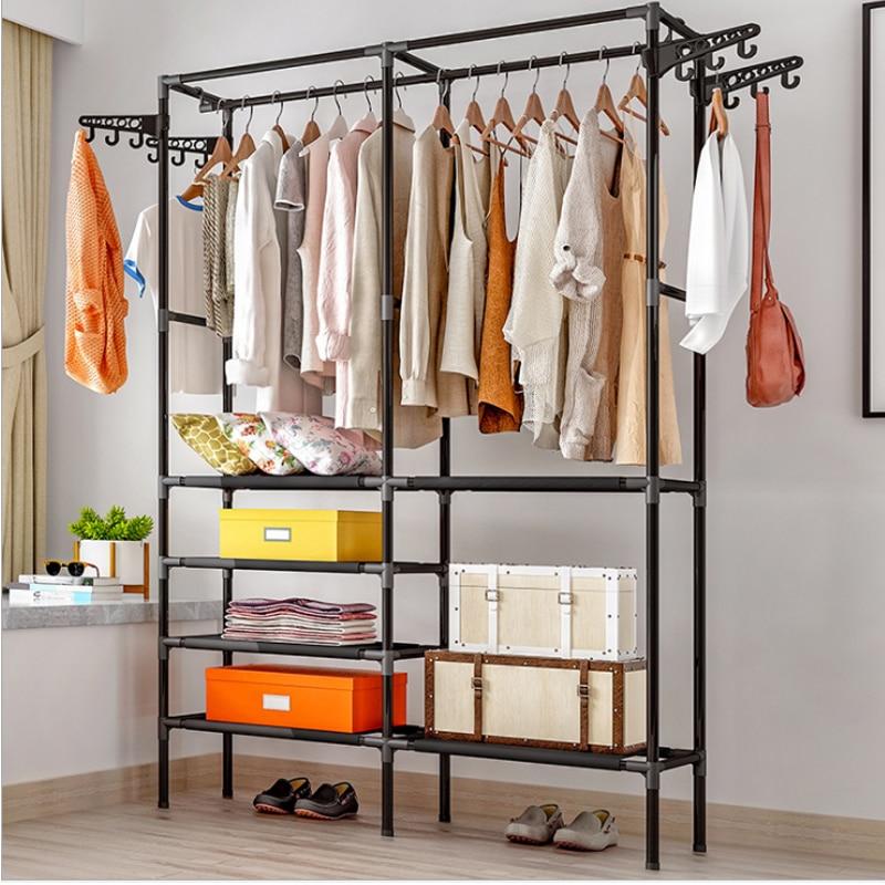 Household Hanger Economical Mobile Storage Coat Rack Standing Coat Rack Floor Bedroom Hanger Simple Clothes Shelf Wall Coat Rack