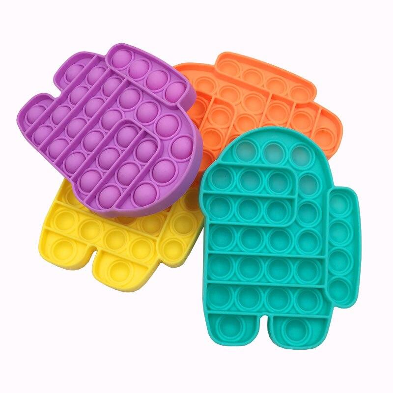 Fidget-Toys Relief-Toy Box Poppit Pop It Push Bubble Anti-Stress Squishy Gift Soft New img4