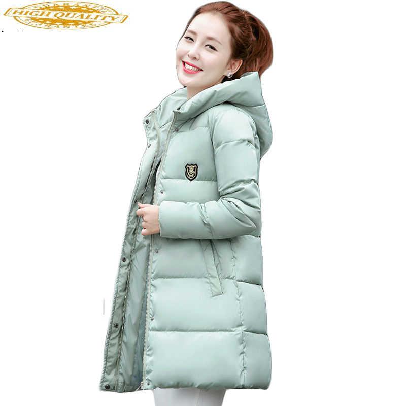 Nouvelle grande taille hiver femmes vers le bas coton veste longue épaisse Parkas femme à capuche coton rembourré mode manteau chaud vêtements d'extérieur