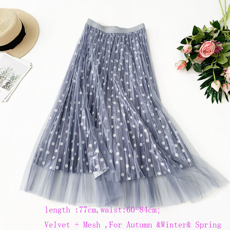 Image 5 - OHRYIYIE Spring Summer High Waist Tulle Skirts Women 2019 New Fashion Long Patchwork Tutu Skirt Sun Fluffy Jupe Longue Femme-in Skirts from Women's Clothing