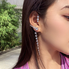 1pc Big Ear Cuff Earrings Women 2019 New Statement Shinning Crystal Hanging Handmade Party Jewelry