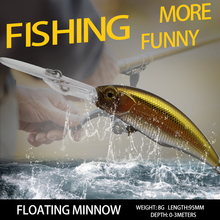 Buy Thritop New Fishing Lure Hard Bait Professional Minnow TP102 95MM 8G High Quality Hooks Fishing Wobblers Bass Pike Tackles directly from merchant!