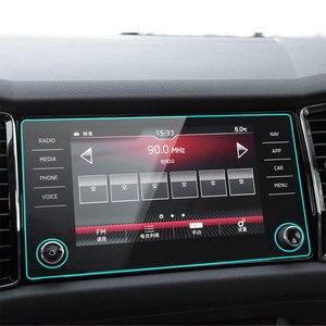 Закаленное стекло для Skoda Kodiaq Karoq 2017 2018 2019, 8 дюймов, защита для экрана автомобиля, GPS навигация, защитная пленка