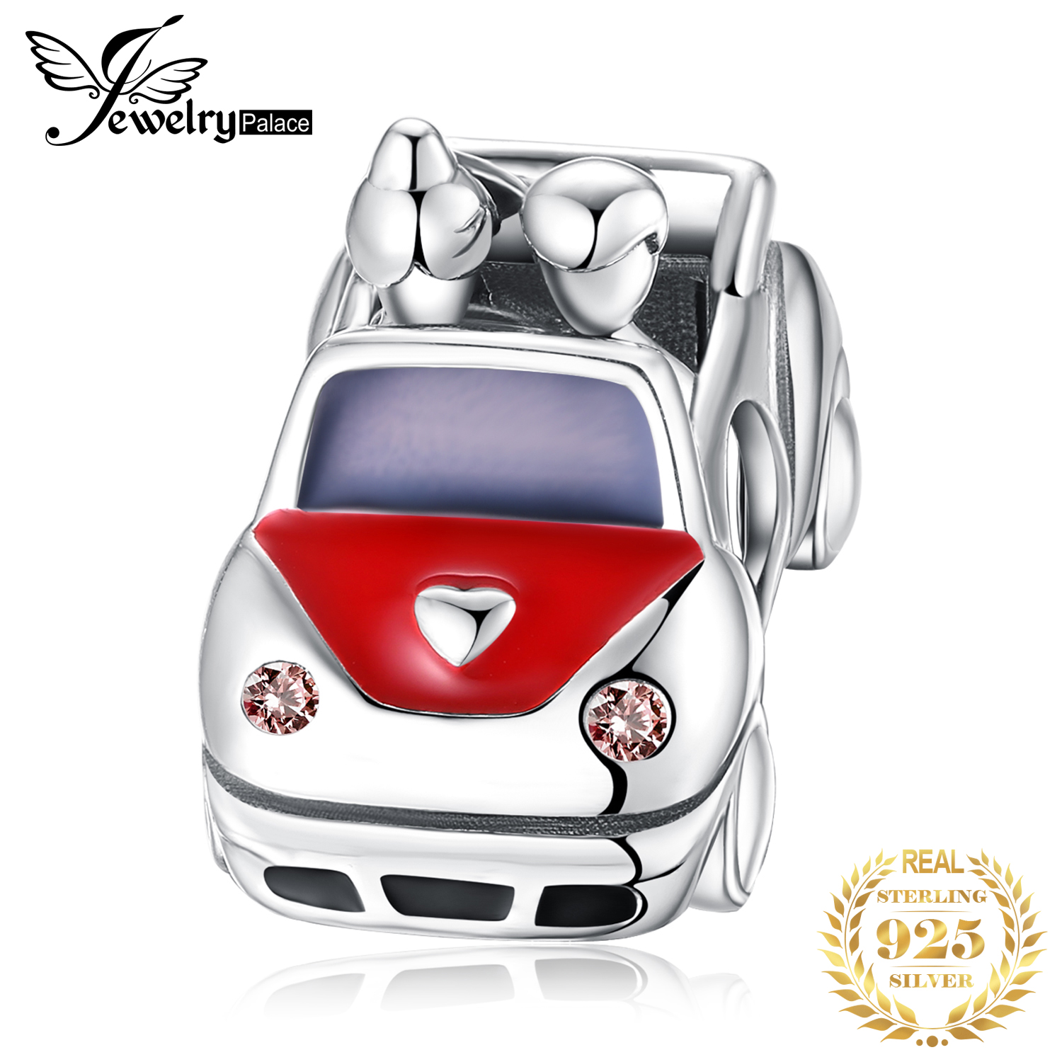 JewelryPalace 925 Sterling Silver Car Beads Charms Silver 925 Original Fit Bracelet Silver 925 original for Beads Jewelry Making in Charms from Jewelry Accessories
