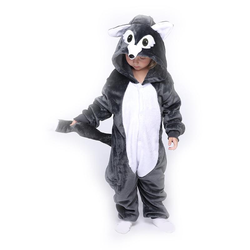 Animal Wolf Kids Kigurumis Onesie Pajamas Children Clothes Boys Girls Toddler Romper Child Funny Clothing Onepiece Costume