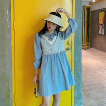 2019 French  Long-sleeved Dress New Summer Super Fairy Temperament Popular Elegant Preppy Style
