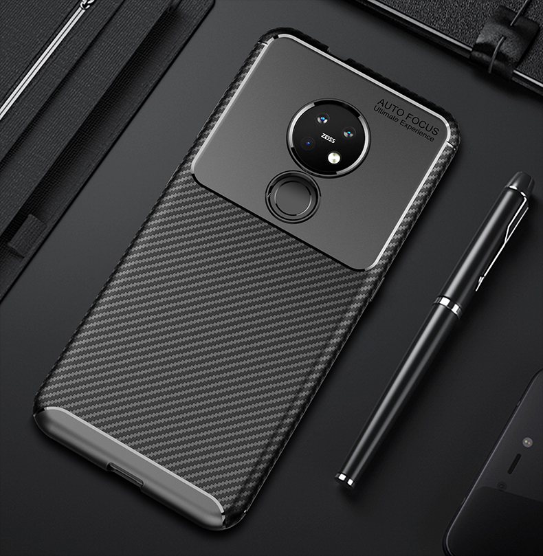 For <font><b>Nokia</b></font> 6.2 7.2 <font><b>Case</b></font> <font><b>8.1</b></font> Pureview Carbon Fiber Matte Anti-knock Soft <font><b>Silicone</b></font> Back Shockproof Shell <font><b>Case</b></font> image