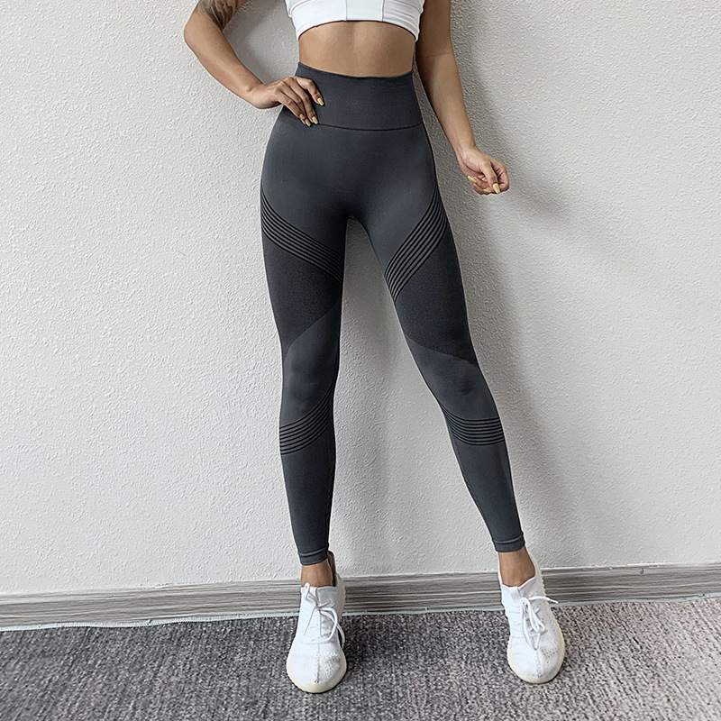 SVOKOR Women Leggings High Waist Peach Hips Gym Leggings Quick-drying Sports Stretch Fitness Pants 5